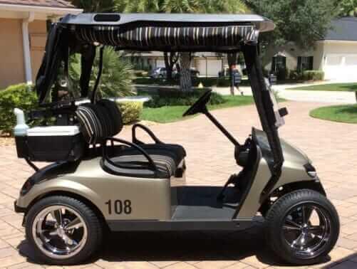 Customized Golf Cart with Cragar Wheels
